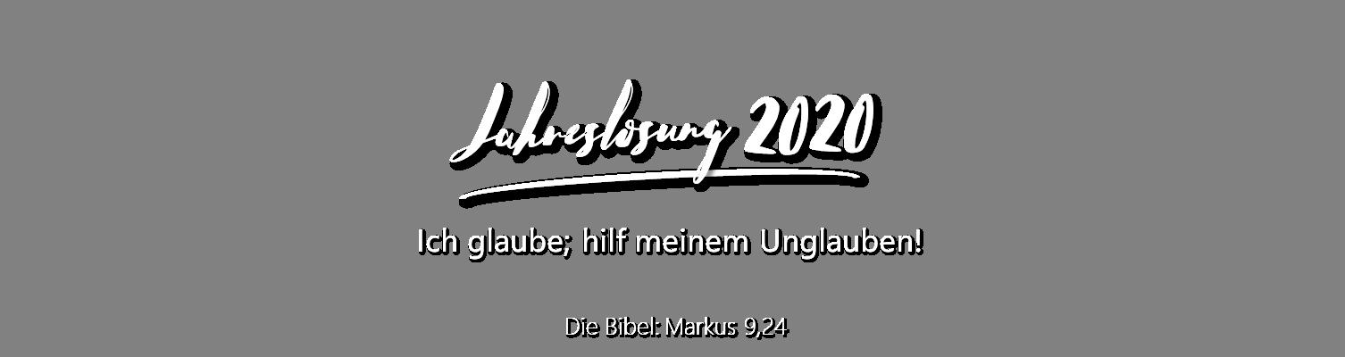 Jahreslosung 2020